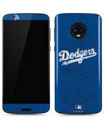 Los Angeles Dodgers- Alternate Solid Distressed Moto G6 Skin