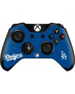 Los Angeles Dodgers- Alternate Solid Distressed Xbox One Controller Skin