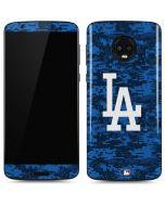 Los Angeles Dodgers Digi Camo Moto G6 Skin