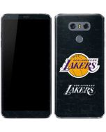 Los Angeles Lakers Black Primary Logo LG G6 Skin