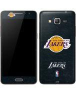 Los Angeles Lakers Black Primary Logo Galaxy Grand Prime Skin