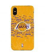 Los Angeles Lakers Blast iPhone XS Max Lite Case
