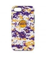 Los Angeles Lakers Digi Camo iPhone 8 Pro Case
