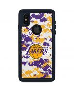 Los Angeles Lakers Digi Camo iPhone X Waterproof Case