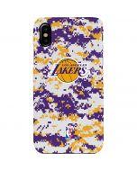 Los Angeles Lakers Digi Camo iPhone XS Max Lite Case