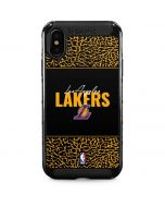 Los Angeles Lakers Elephant Print iPhone XS Max Cargo Case