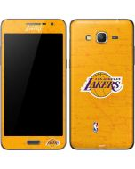 Los Angeles Lakers Gold Primary Logo Galaxy Grand Prime Skin