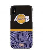Los Angeles Lakers Retro Palms iPhone XS Max Lite Case