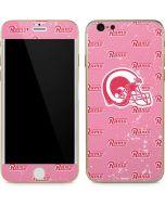 Los Angeles Rams Pink Logo Blast iPhone 6/6s Skin