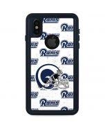 Los Angeles Rams White Logo Blast iPhone X Waterproof Case