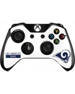 Los Angeles Rams White Performance Series Xbox One Controller Skin