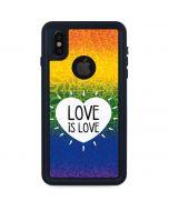Love Is Love Rainbow iPhone XS Waterproof Case