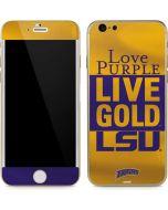 Love Purple Live Gold LSU iPhone 6/6s Skin