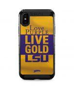 Love Purple Live Gold LSU iPhone XS Max Cargo Case