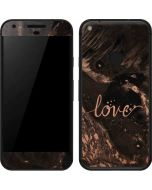 Love Rose Gold Black Google Pixel Skin