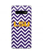 LSU Chevron Print Galaxy S10 Plus Skin