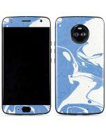 Marbleized Blue Moto X4 Skin