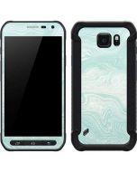 Marbleized Mint Galaxy S6 Active Skin