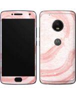 Marbleized Pink Moto G5 Plus Skin