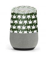 Marijuana Leaf White Pattern Google Home Skin