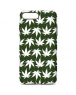 Marijuana Leaf White Pattern iPhone 7 Plus Pro Case