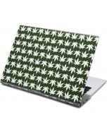 Marijuana Leaf White Pattern Yoga 910 2-in-1 14in Touch-Screen Skin