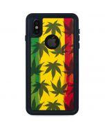 Marijuana Rasta Pattern iPhone X Waterproof Case