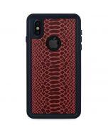 Marsala Snake Skin iPhone XS Waterproof Case
