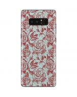 Marsala White Rose Galaxy Note 8 Skin