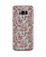 Marsala White Rose Galaxy S8 Plus Skin