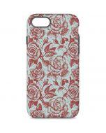 Marsala White Rose iPhone 8 Pro Case