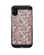 Marsala White Rose iPhone X Cargo Case