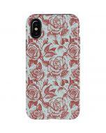 Marsala White Rose iPhone X Pro Case