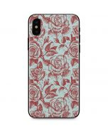 Marsala White Rose iPhone X Skin