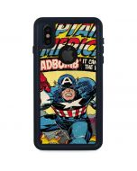 Marvel Comics Captain America iPhone XS Waterproof Case