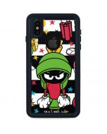 Marvin the Martian Striped Patches iPhone XS Waterproof Case