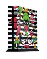 Marvin the Martian Striped Patches PS4 Console Skin