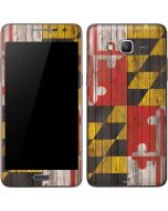 Maryland Flag Dark Wood Galaxy Grand Prime Skin