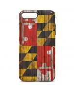 Maryland Flag Dark Wood iPhone 7 Plus Pro Case