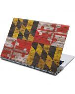 Maryland Flag Dark Wood Yoga 910 2-in-1 14in Touch-Screen Skin