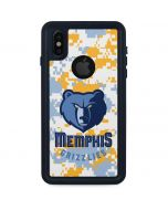 Memphis Grizzlies Digi Camo iPhone XS Waterproof Case