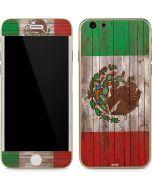 Mexican Flag Dark Wood iPhone 6/6s Skin
