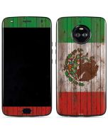 Mexican Flag Dark Wood Moto X4 Skin