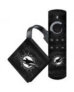 Miami Dolphins Black & White Amazon Fire TV Skin