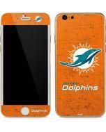 Miami Dolphins Distressed- Orange iPhone 6/6s Skin