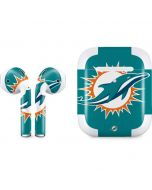 Miami Dolphins Large Logo Apple AirPods 2 Skin