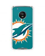Miami Dolphins Large Logo Moto G5 Plus Clear Case