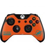 Miami Dolphins Orange Performance Series Xbox One Controller Skin