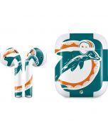 Miami Dolphins Retro Logo Apple AirPods 2 Skin