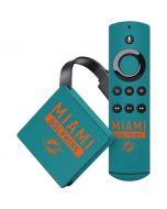 Miami Dolphins Teal Performance Series Amazon Fire TV Skin